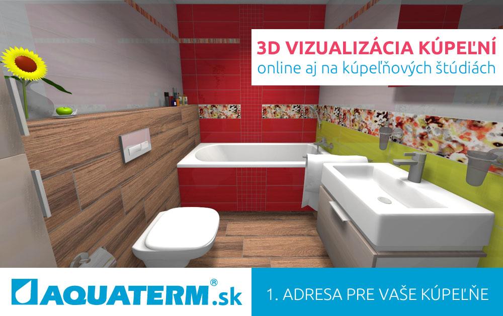 Aquaterm Kupeľne 3d Vizualizacia Kupeľne V Ziarivych Farbach