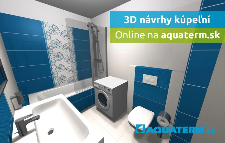 Aquaterm Kupeľne 3d Navrh Modrobiela Kupeľna